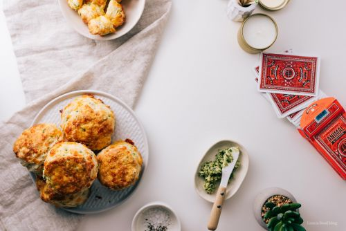 Extra Flaky Sky High Cheddar Scallion Biscuits