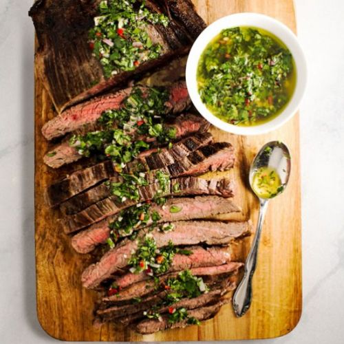 Skillet Steak with Chimichurri