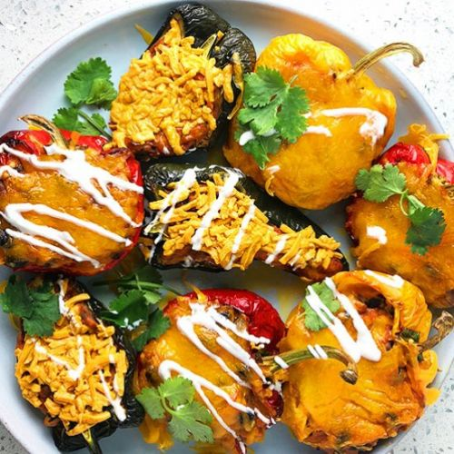 Chipotle Cheese Stuffed Peppers