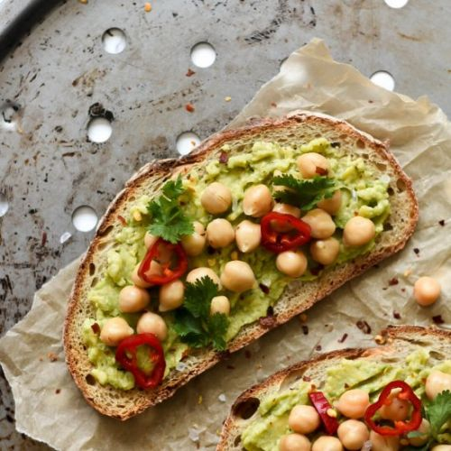 Spicy Avocado Toast with Chickpeas