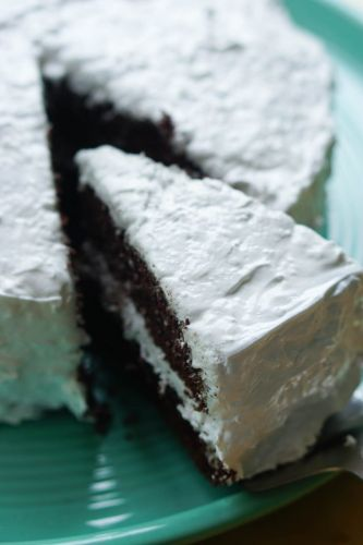 "Chocolate Coconut ""Candy Bar"" Cake"