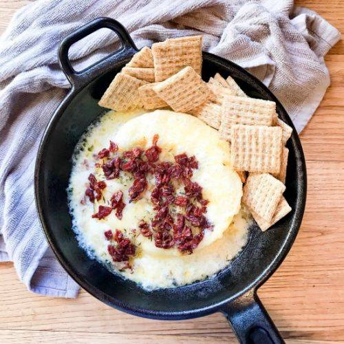 Sun-dried tomato baked Brie