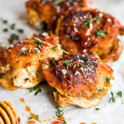 Hot Honey Chicken Thighs