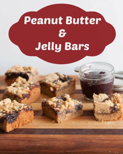 Peanut Butter and Jelly Bars & a Virtual Baby Shower