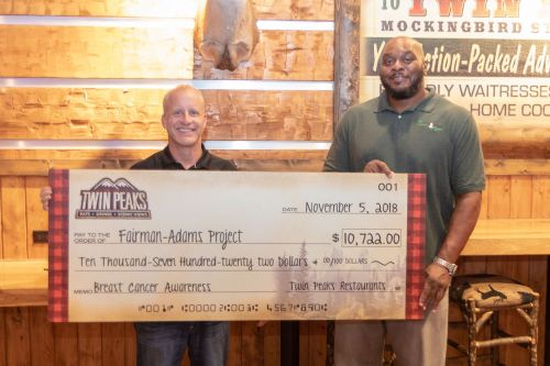 Twin Peaks Donates over $10,000 to Breast Cancer Education and Awareness