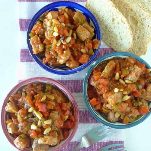 Tomatoes and Peppers with Tuna