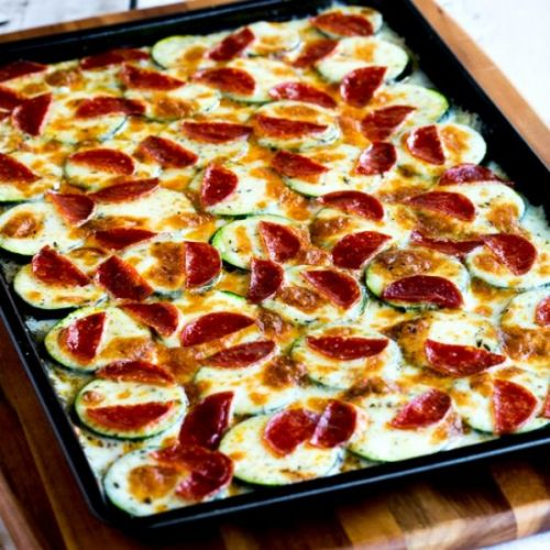 Broiled Zucchini Cheese Pepperoni