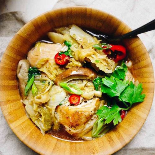 Instant Pot Chicken Cabbage Soup