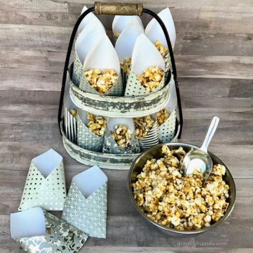 Caramel Corn with Smoked Almonds