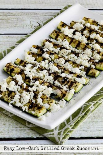 Easy Low-Carb Grilled Greek Zucchini
