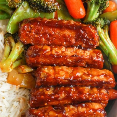 Easy BBQ Baked Tempeh