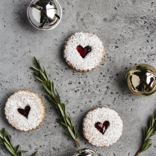 Rosemary Linzer Cookies
