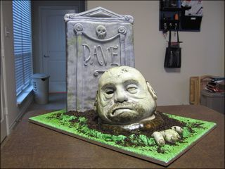 How to make a sculpted zombie cake