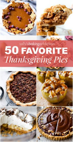 50 Thanksgiving Pie Recipes & Giveaway!
