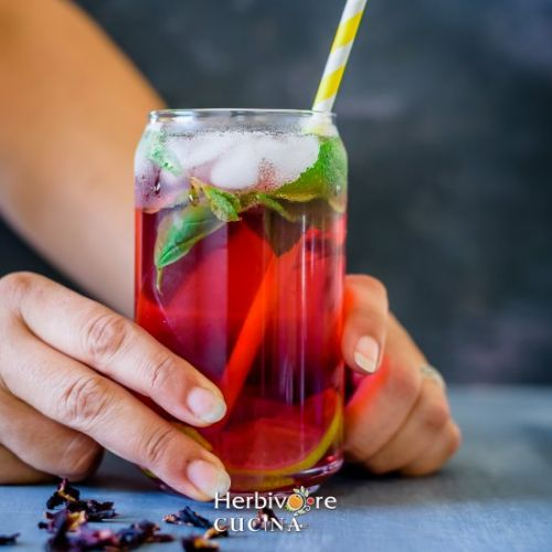 Hibiscus Tea - Iced and Hot