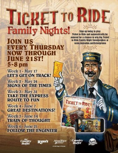 """Ovation Brands And Furr's Fresh Buffet Have The """"Ticket To Ride"""" With Newest Family Night Promotion, Starting May 17"""