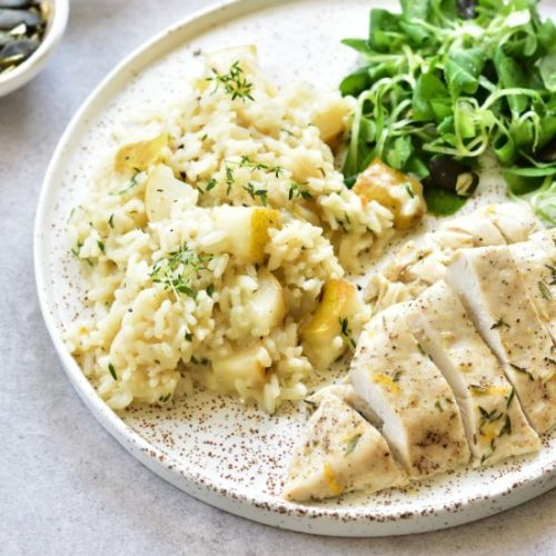 Pear and thyme risotto