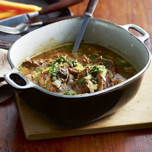 Veal osso buco with crispy capers