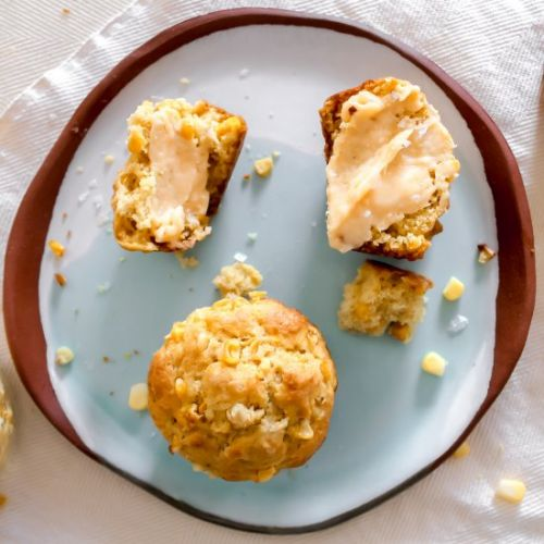 Corn Muffins with Honey Butter