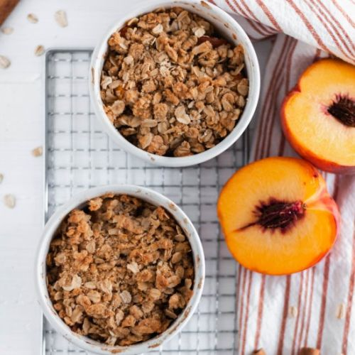 Small Batch Peach Crisp