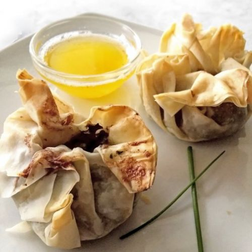 Herbed Mushrooms in Phyllo Pouches