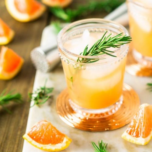 Rosemary-Grapefruit Vodka Spritzer