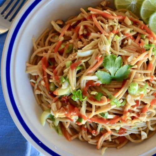 Asian Noodle Salad Peanut Dressing