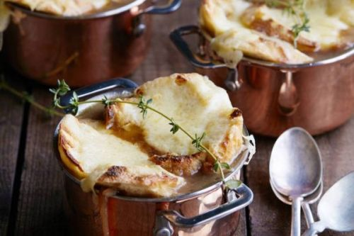 French Onion Soup with Gruyere Toasts