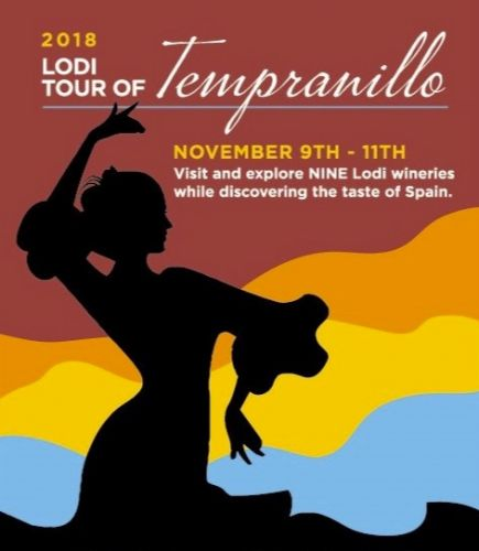 Aficionados of Spanish inspired wines to celebrate 2018 Lodi Tour of Tempranillo this coming November 9-11
