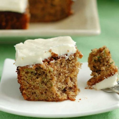 Zucchini Cake Cream Cheese Frosting