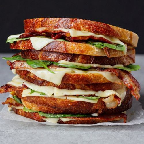 Bacon Spinach Grilled Cheese