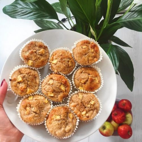 Healthy Cinnamon Apple Muffins