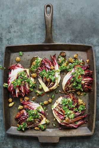Pan-Grilled Radicchio with Olive-Caper Salsa