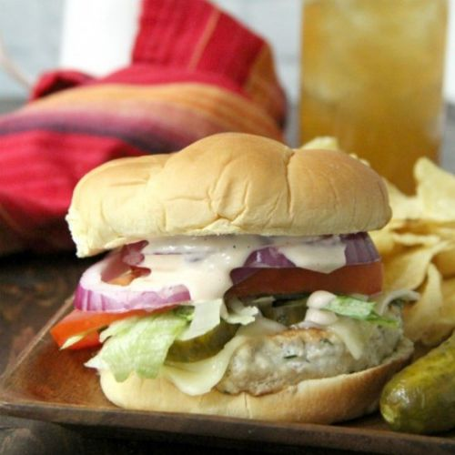 Dill Pickle Chicken Burger