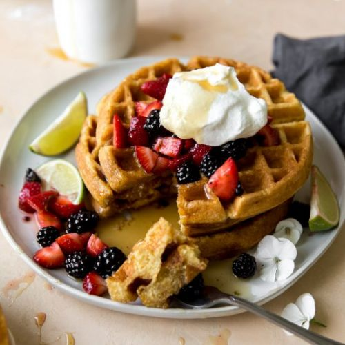 Honey Cornbread Waffles