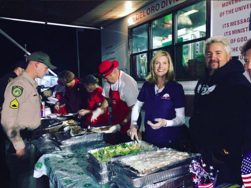Guy Fieri Feeds First Responders Battling Northern California Fires