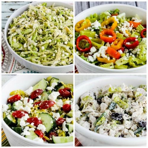 Spicy Low-Carb Salads with Peperoncini