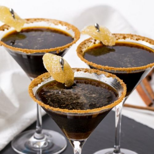 Gingersnap martini cocktail