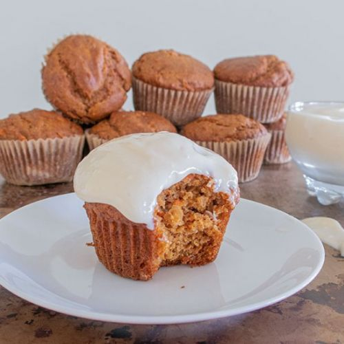 Very Best GF Carrot Cake Muffins