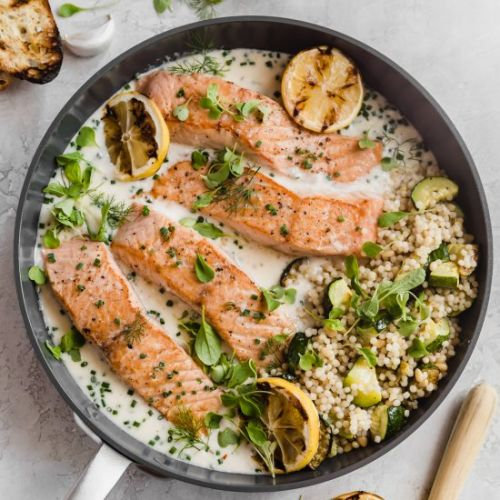 Crispy pan seared salmon