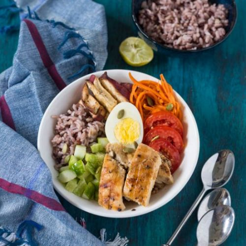 Mixed rice Buddha bowl