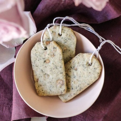 White Chocolate Earl Grey Shortbread