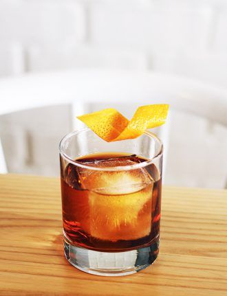 Fisher's Mezcal Old Fashioned