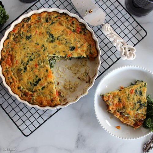Crustless Vegetable &Sausage Quiche
