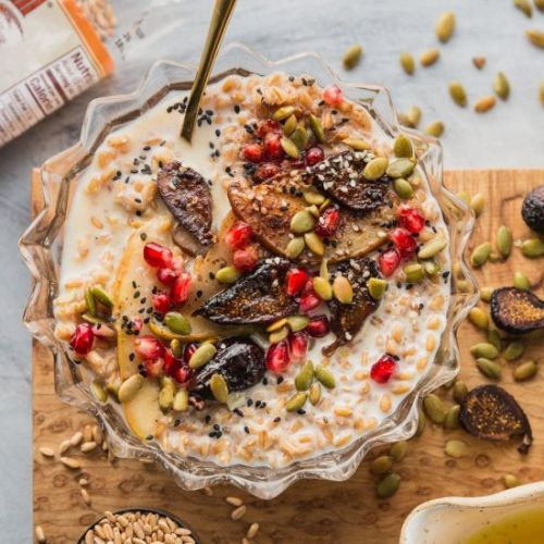 Seedy Farro Breakfast Bowl