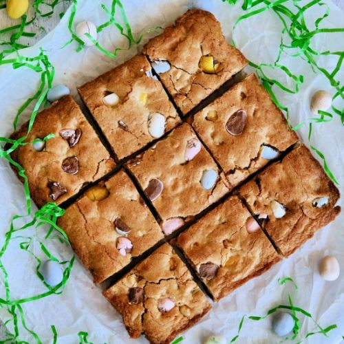 Mini Cadbury Egg Blondies