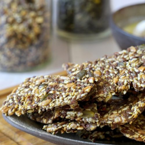 Cheese Seed Crackers | Gluten Free