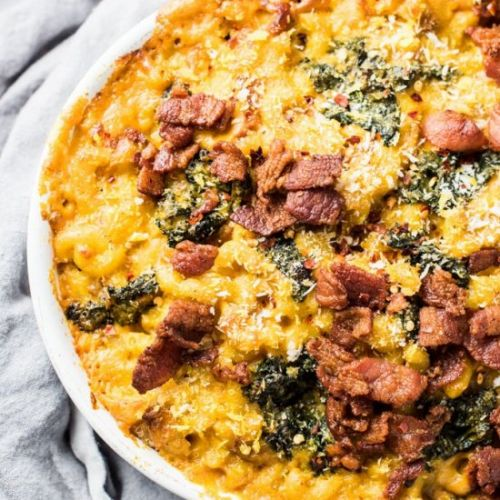 Makeover Pumpkin Mac and Cheese