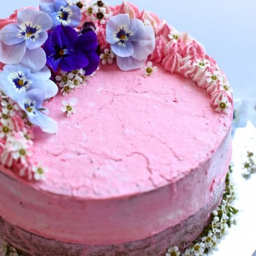 Vegan Strawberry Lady Cake