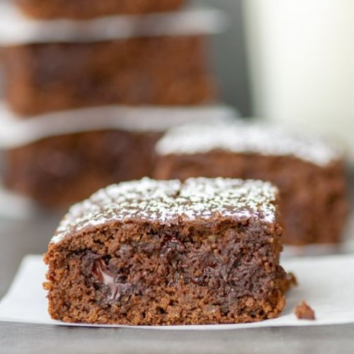 Dark Chocolate Lentil Brownies